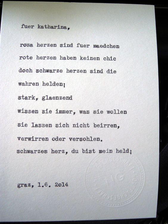 Sag mir ein Wort und ich schreib dir ein Gedicht. Wortfachgeschaeft @ Designmesse Edelstoff in Graz. Inspirationswort: Schwarzes Herz