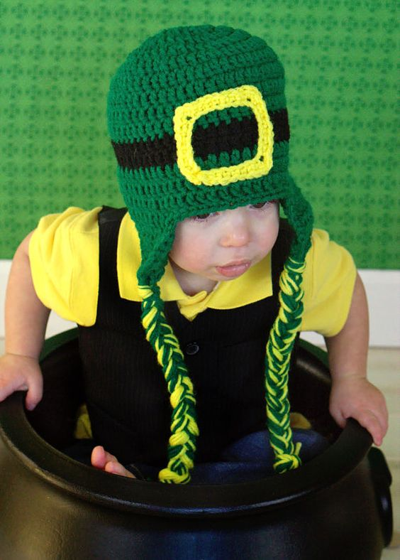 St Patrick's Day Crochet Leprechaun Hat by TheAppleandTree on Etsy, $18.00: Crochet Leprechaun, Mommy, St. Patrick'S Day, 18 00, Crochet Patterns, St Patrick'S Day, Crochet Items