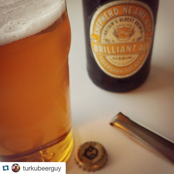 Repost @turkubeerguy ・・・ #shepherdneame #brilliantale #goldenale #uk #england #beer