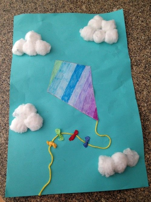 A kite project that i made with the autistic children at for Kite craft for kids