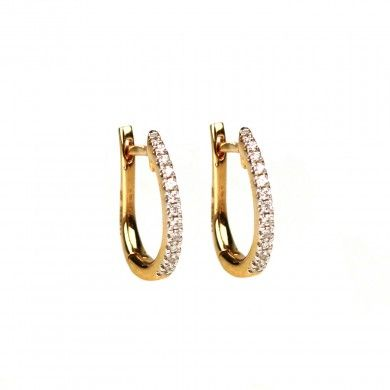 The timeless allure of sparkling diamonds is best reflected in works of art like these bali earrings. Gold earrings featuring a sliver of so...