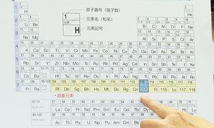 Names of four new elements on periodic table presented for public review.