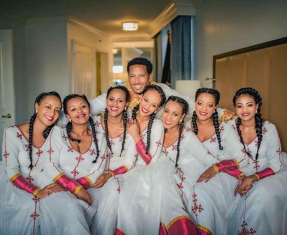 African bridesmaids dress
