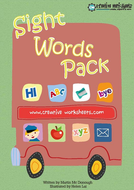 ight words are such a huge part of the 'learning to read' process and repeated practice is a must for children to gain confidence in recognizing and reading these 'tricky' words.  This pack contains all of the Dolch sight words KG - third grade, but can equally be applied to below grade readers and advanced Kindergartners.