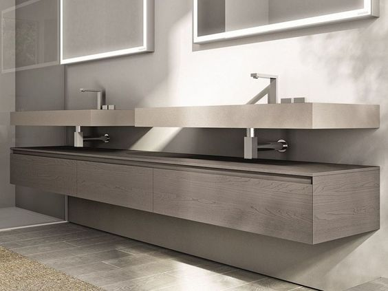 Double vanity unit Cubik Collection by IdeaGroup