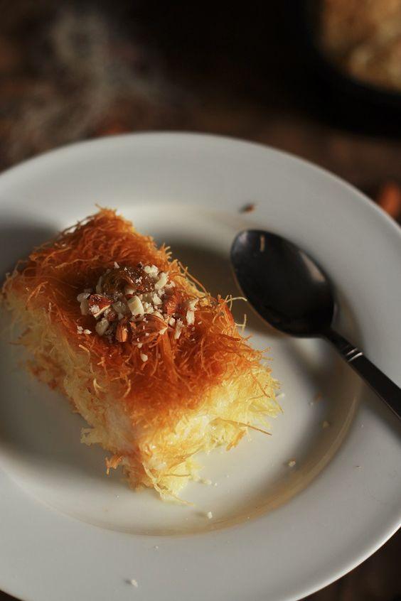 Kunafa Recipe-Knafeh Recipe with Kataifi- A very popular Arabic/Middle Eastern…
