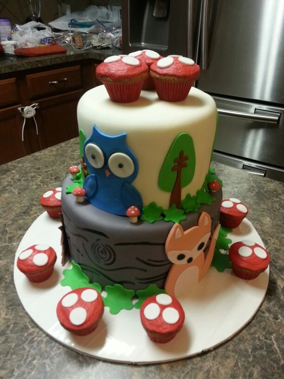 woodland creatures baby shower cakes shower cakes baby showers showers