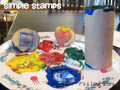 Simple Stamps with household objects