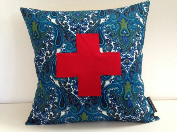 20 Square Throw Pillow Covers : Swiss Cross Decorative Pillow Cover 20