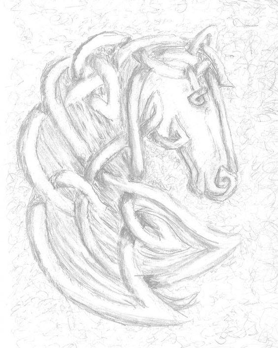 Celtic Artwork :: horse..Carolyn Naegeli Slead