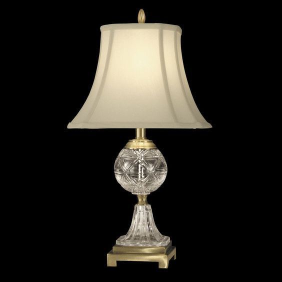 Dale Tiffany Gt10370 Crystal Table Lamp Antique Brass Lighting