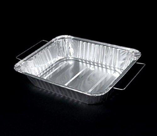 Half Size 1 2 Deep Aluminum Foil Steam Pan W Handles Disposable Roaster Trays Microwave Baking Aluminum Foil Durable
