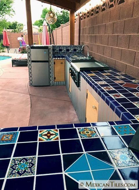 Mexican Tile Polanco 2 Mexican Tile Outdoor Kitchen
