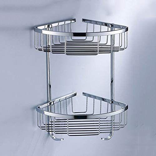 Lifxx 304 Stainless Steel Tripod Organiser Shelf Kitchen Storage Basket 2 Tier Bathroom Shower Caddy Balc Bathroom Basket Storage Shower Shelves Shower Storage