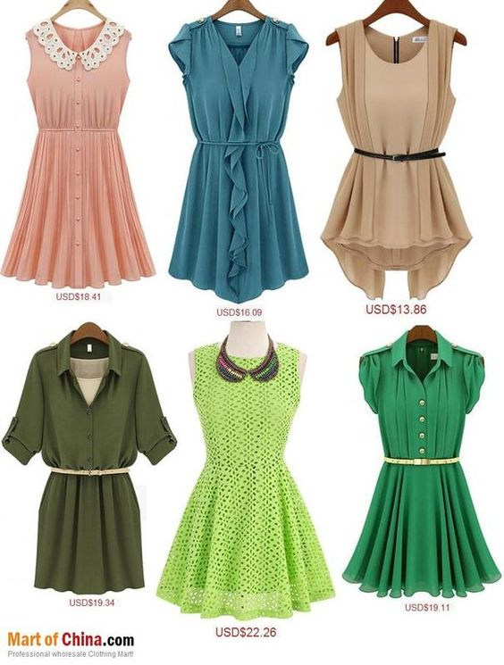 Selection of dresses from an online #store with #lowcost prices! #shopping