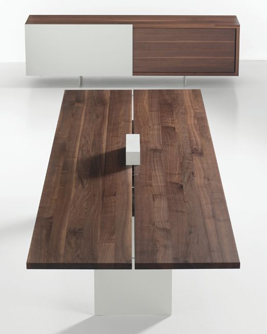 TIX Conference and Storage - Solid Wood walnut table - @Davis Furniture #interiordesign #