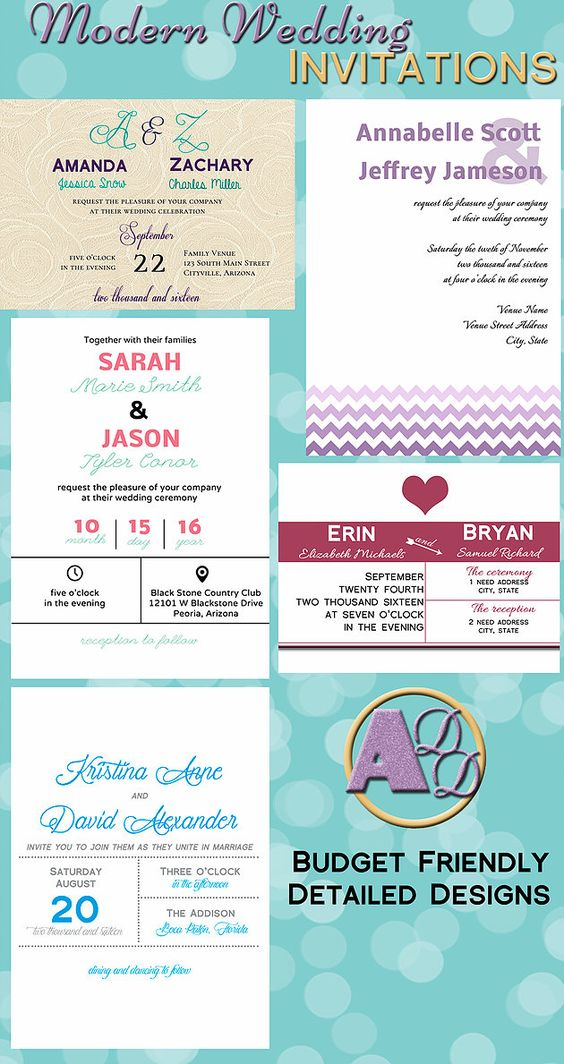 5 Modern Wedding Invitations that you and your guests will love.