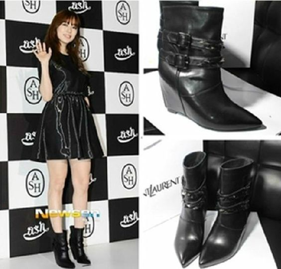 ASH pointed boots with higher slope with pointed boots high heeled boots boots boots short Knight #zarmark