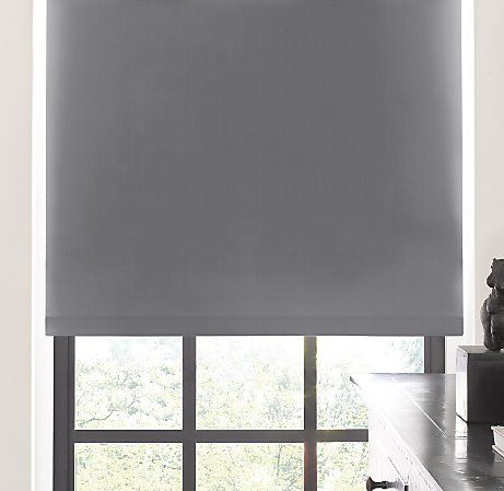 Classic blackout roller shade graphite restoration for Restoration hardware window shades