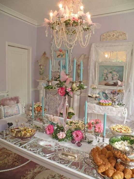 Idea Centerpiece Candelabra Chandelier In One Need Spray Paint Candles We Can Do For Sarah S Shower Pinterest Victorian Tea Party Parties And