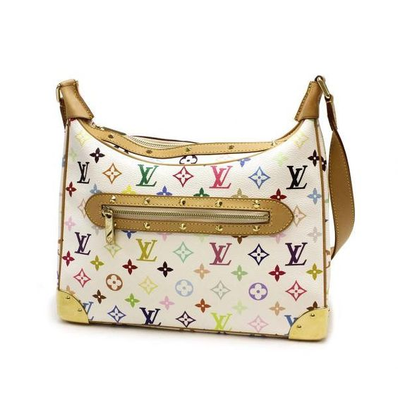 Louis Vuitton Boulogne  Monogram Multicolore Shoulder bags White Canvas M92660