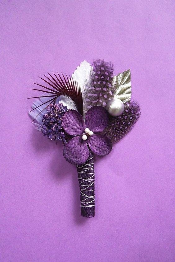 purple boutineers