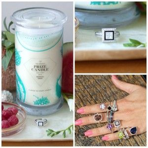 Prize Candle: Pure Soy Candle Saving   Hidden Ring (Value  at $5-$5,000)