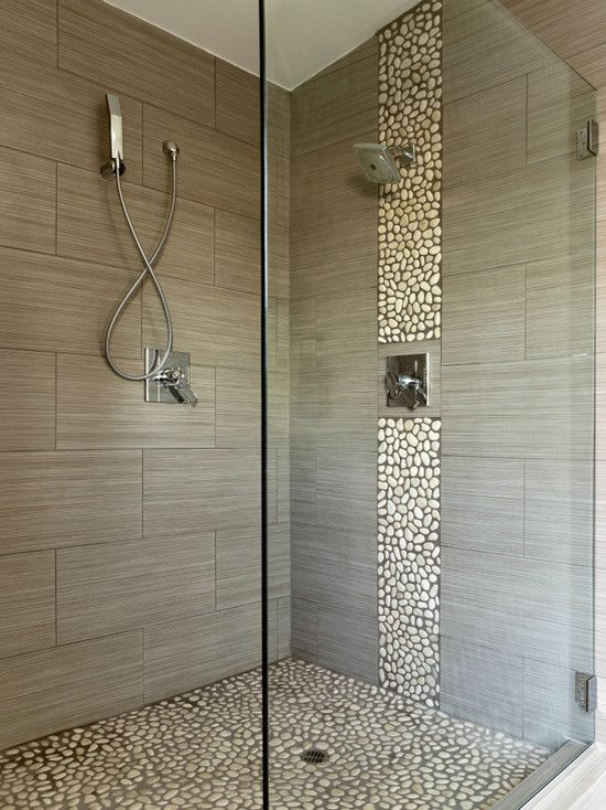 Tile Design Bathroom Rectangle Tile Shower Stall Designs  Shower Stall With Stonework