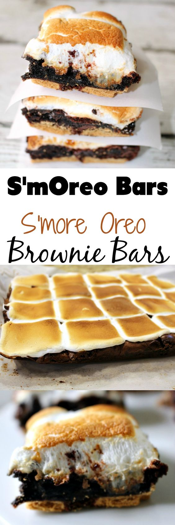S'mOreos!!! S'more Oreo Brownie Bars - OMG this happened and it was AWESOME!!!!:
