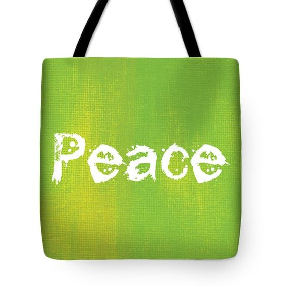 Tote Bags - Peace  Tote Bag by Kathleen Wong