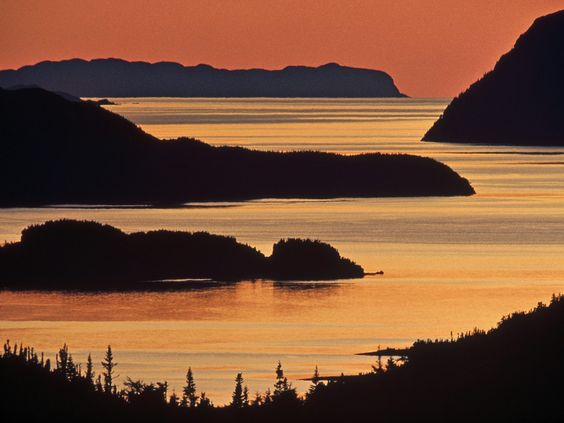 "(Newfoundland at dusk, Canada)...because you never hear anyone ever say ""I want to go to Canada""...."