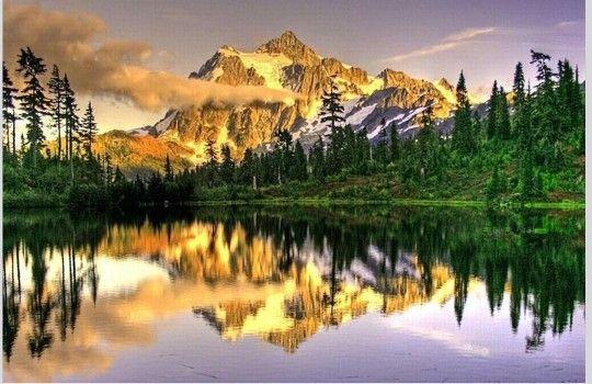 Rios e montanhas, e um belo lago, estou planejando morar aqui!