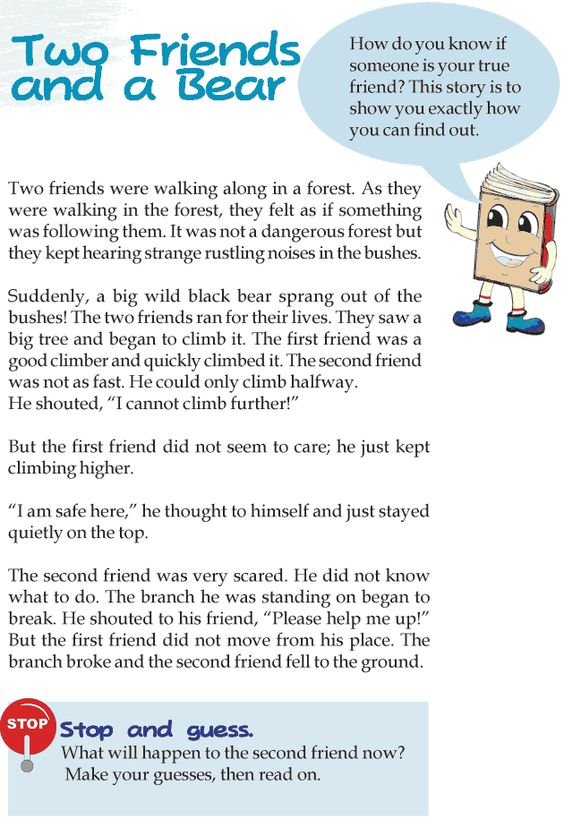 Worksheets Story Reading For Grade 3 grade 3 reading lesson 11 fables and folktales two friends a bear this site
