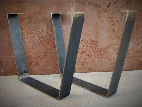 Plat en métal pieds de Table bar par SteelImpression sur Etsy