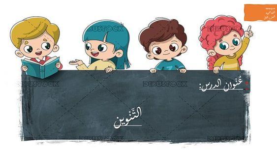 بوربوينت شرح درس التنوين باشكاله للصف الثاني مادة اللغة العربية Arabic Alphabet For Kids Alphabet For Kids Kahoot