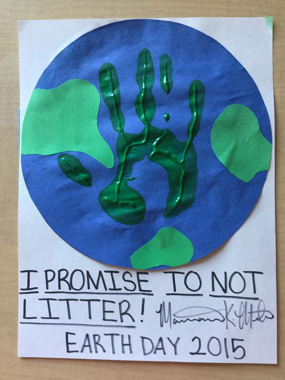 Earth day preschool craft. Hand print craft. Globe. Planet earth. Recycle. Litter.