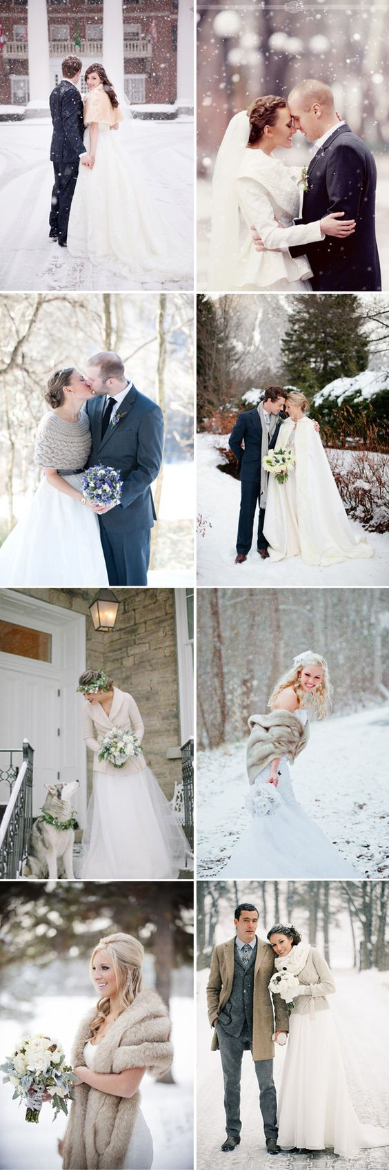 cozy and warm accessories for winter bridal wedding dress: