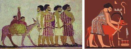 Judaism parallel universes pinterest judaism for Beni hasan mural
