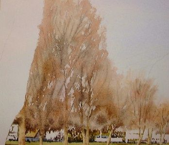 watercolor lesson depicts the River Avon