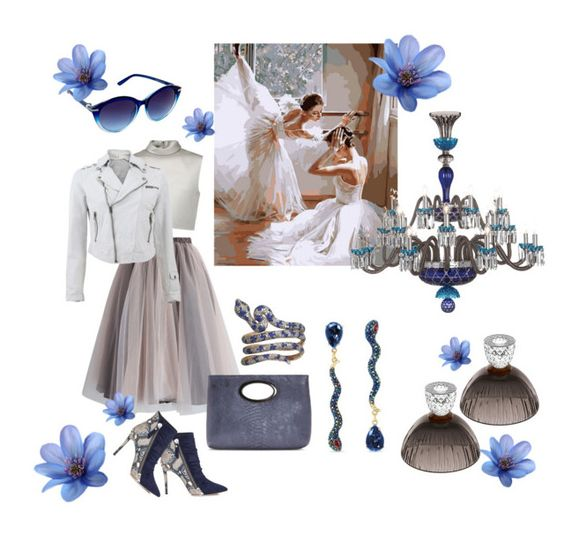 """""""Blue Snake"""" by forgottenmelody on Polyvore featuring TIBI, Chicwish, Jakett, Donald J Pliner, Betsey Johnson, Saint-Louis Crystal and Nanette Lepore"""