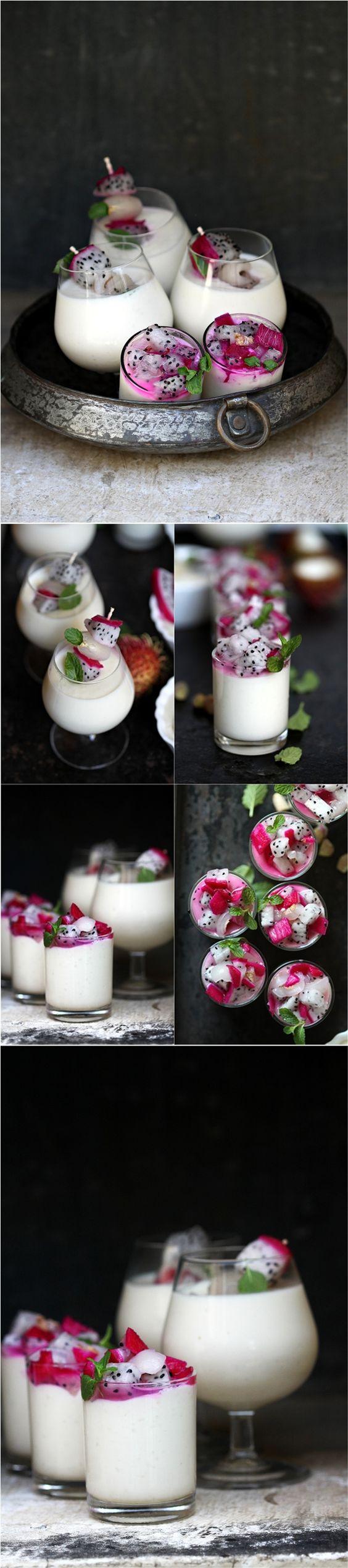 Tropical Coconut Rice Milk Pudding