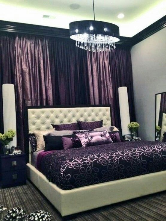 Love the walls and the black moulding. The headboard/bed. The ...