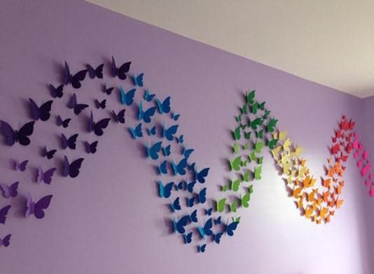 Diy Paper Butterfly Wall Decor Ideas Perete