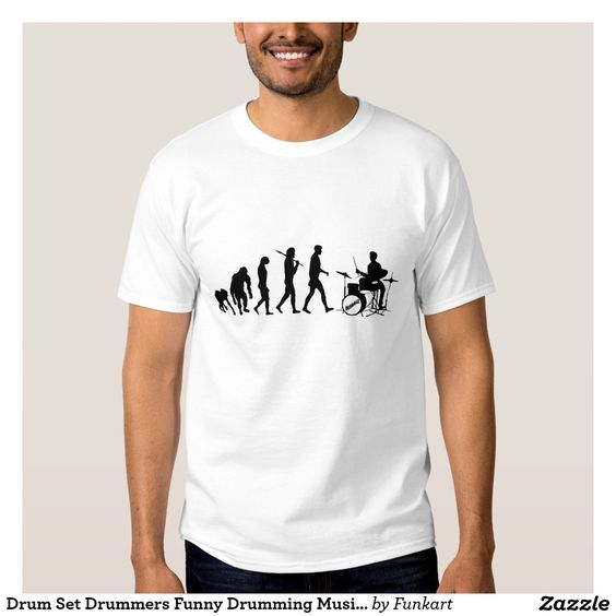 Drum Set Drummers Funny Drumming Music Evolution