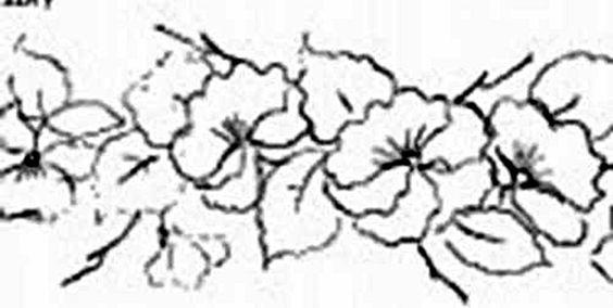 Um Só Minuto: 115) Amor Perfeito COM RISCO-Pintura em tecido molhado 1 e 2 - em Duas Partes - Luís Moreira - Artesão