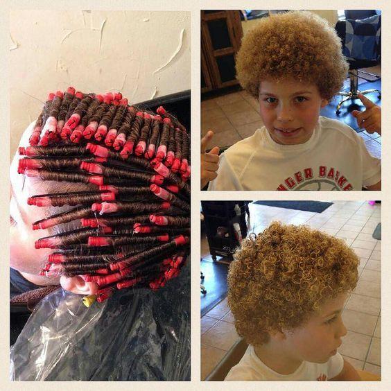 Garcon Resultat D Une Permanente Permed Hairstyles Short Permed Hair Perm