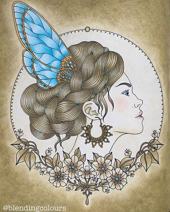 Nostalgic sepia with a touch of color💙💙 Colored with Caran Dache Luninance, the deops on her hair and flowers are Nuvo Glitter Drops 😊 they will stay dimensional. #dagdrömmar #dagdrommar #hannakarlzon @hannakarlzon #adultcolouring #adultcoloringbook #coloringbook #målarbok #coloringforadults #colouringbook #livrodecolorir #artecomoterapia #desenhoscolorir #livrocoloriramo #prazeremcolorir #arte_e_colorir #coloringmasterpiece @desenhoscolorir @colorindolivros @boracolorirtop…