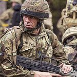 Army Reservist on Exercise