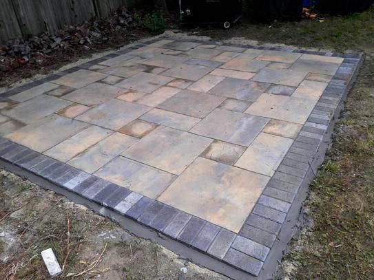 nantucket pavers patio on a pallet 12