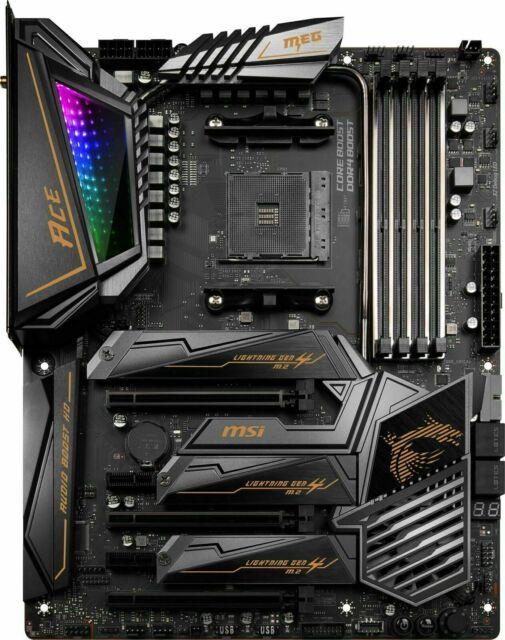 Msi Meg X570 Ace Socket Am4 Amd X570 Pcie 4 0 Dual Lan Wi Fi 6 Atx Motherboard The Electronic Spot In 2020 Motherboard Amd Atx